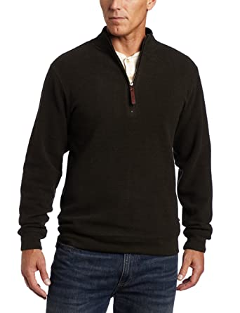 Woolrich Mens Bromley Half Zip Sweater At Amazon Mens Clothing