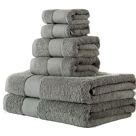 Bath Towels set 2 Bath or 2 Hand Towels Gym Spa 100/% Cotton
