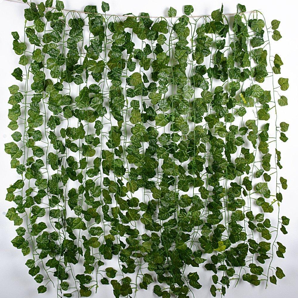 12 Tiras Hojas de Vid 2 m Plantas Artificiales Colgantes Enredaderas Guirnaldas Decorativas para Decoración Fiesta