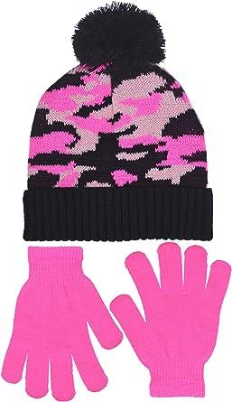 Polar Wear Boys Digi-Camouflage Hat /& Gloves Set in 2 Rugged Designs