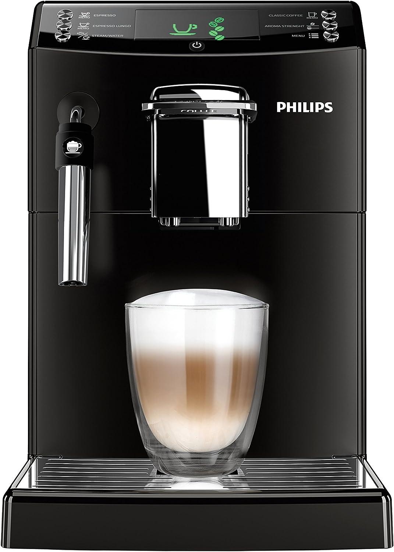 Philips Serie 4000 Cafetera Express, automática, 1850 W, 1.8 litros, plástico, negro: Amazon.es: Hogar