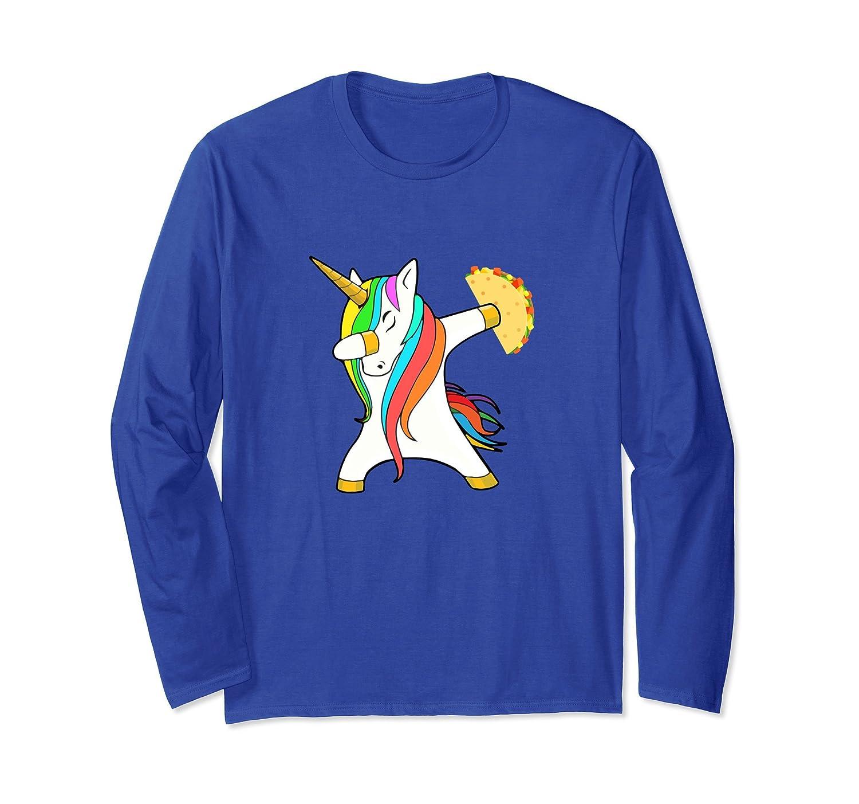 Dabbing Unicorn Taco Shirt Long Sleeve-alottee gift
