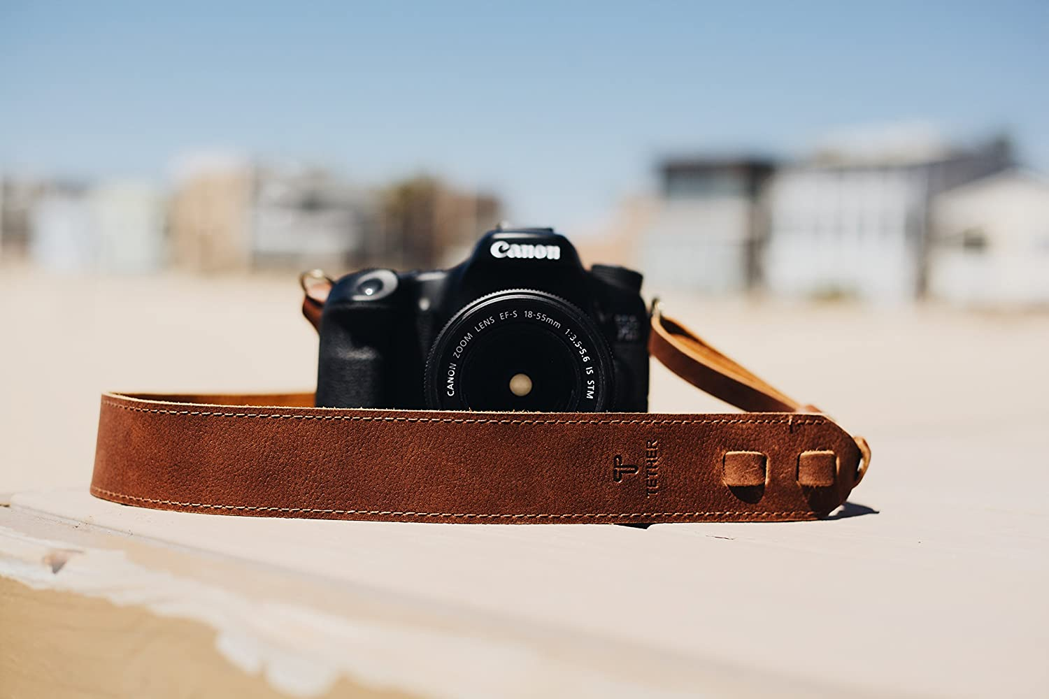 CAM-IN Real Leather Micro Single SLR Camera Strap(Brown)