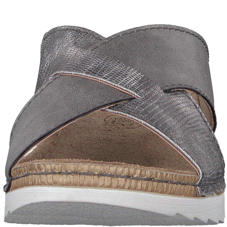 Jana Damen Pantolette von grau Weite-H von Pantolette Größe 37 bis 42 Grau d2034c