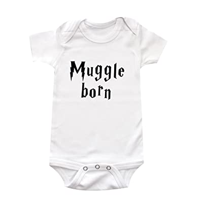"""Muggle Born"" Harry Potter Unisex-Baby Baby Bodysuit"