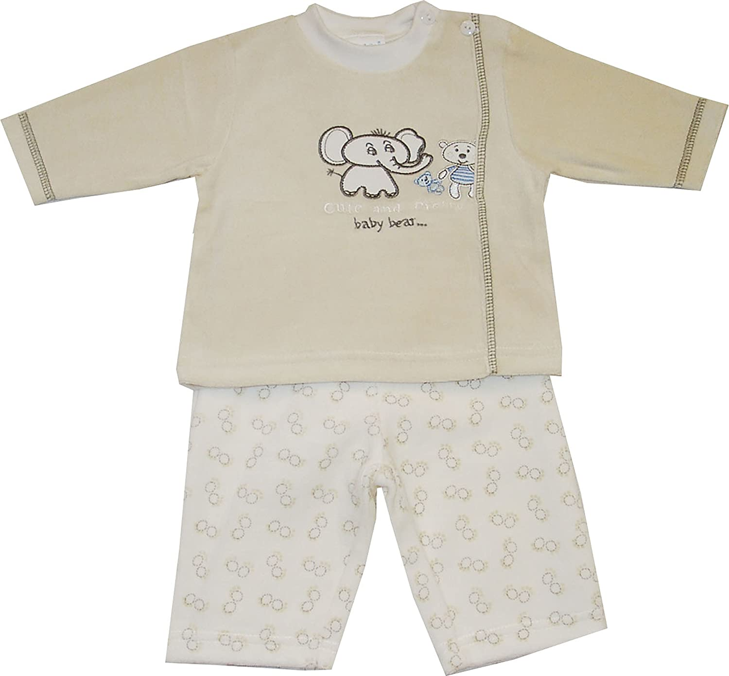 Schnizler Unisex Baby Jogginganzug Nickianzug Cute And Pretty, Allover Hose Gr. 68 Gelb (original 900) Playshoes GmbH 19536887