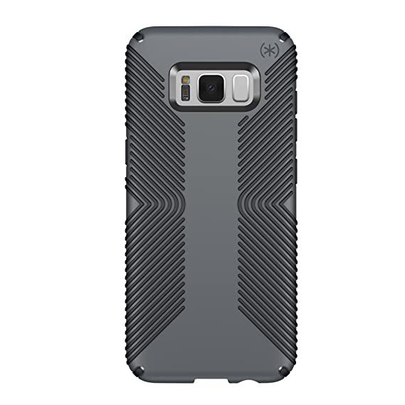the latest f18a5 0935b Speck Products Presidio Grip Cell Phone Case for Samsung Galaxy S8 Plus -  Graphite Grey/Charcoal Grey