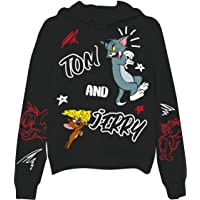 Ladies Tom & Jerry Battle Sweatshirt - Vintage Cartoon Multi Hit Fleece Sweatshirt