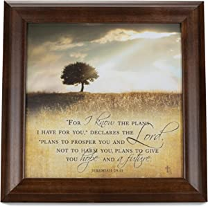 Cottage Garden for I Know The Plans I Have for You 12 x 12 Woodgrain Framed Wall Art Plaque