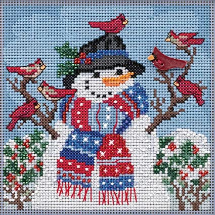 MILL HILL Buttons Beads Kit Counted Cross Stitch FROSTY SNOWMAN MH14-0304
