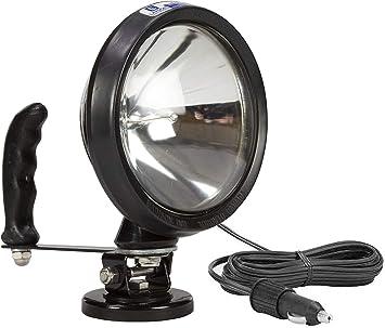 Amazon Com 12 Million Candlepower Spotlight W 200lb Magnetic Base W Cigarette Plug Hml 4 200lb Cp Home Improvement
