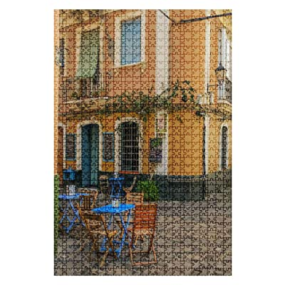 1000 Pieces Wooden Jigsaw Puzzle City of Cadiz in South of Spain Romantic Scenery Stock Pictures Fun and Challenging Board Puzzles for Adult Kids Large DIY Educational Game Toys Gift Home Decor: Toys & Games