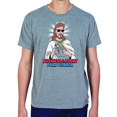 db1c400a Amazon.com: Headline Shirts Mullet Jesus Funny Graphic Screen Printed  Crewneck T-Shirt for Men: Clothing
