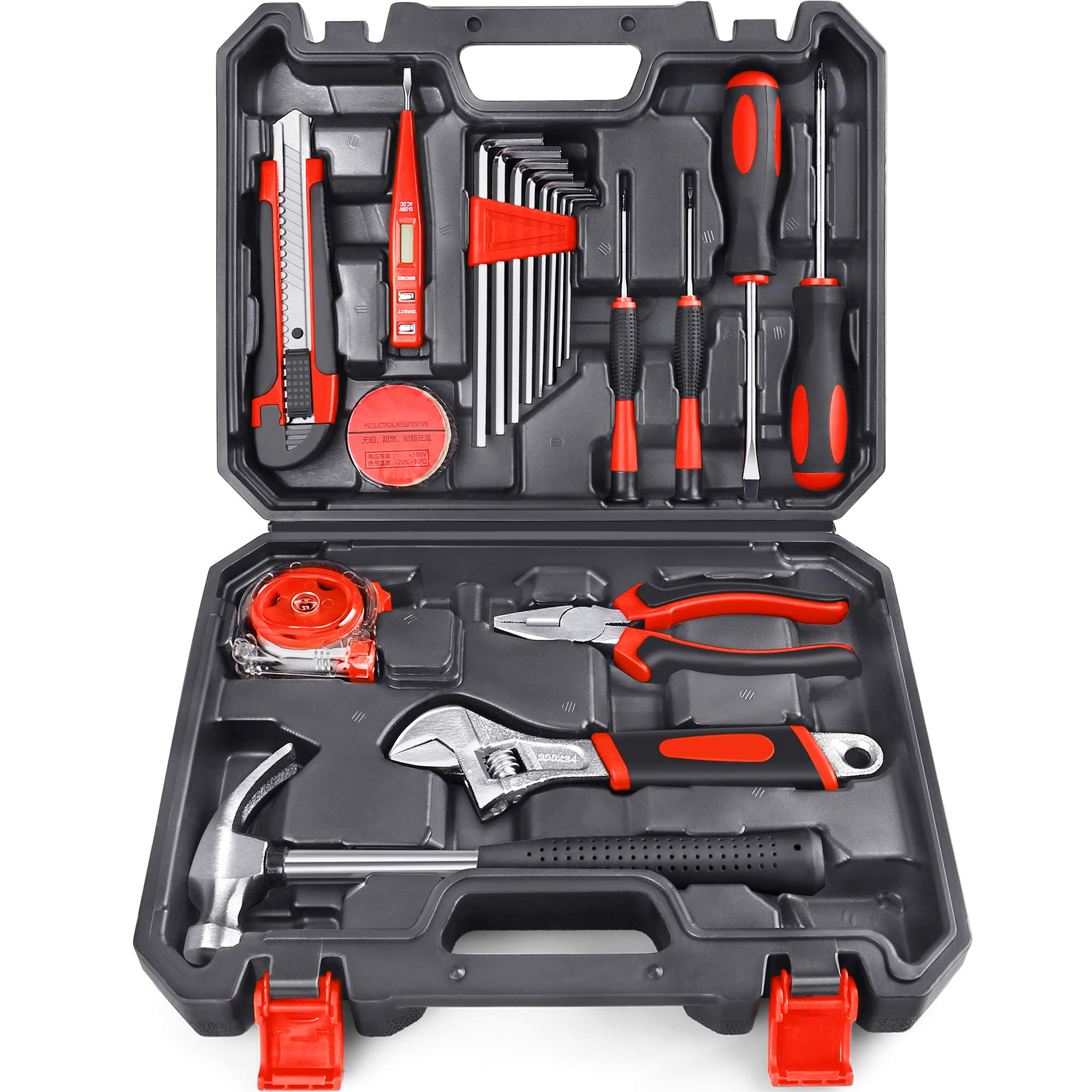 Arrinew 19pcs Household Tools Kit Home Repair Tools Set for Homeowner with
