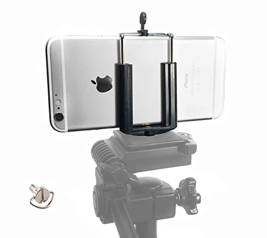 promo code 613cc 44452 DaVoice Cell Phone Tripod Adapter Mount Holder Clamp Compatible with iPhone  X XS Max XR Se 8 7 6 6s Plus Samsung Galaxy S9 S8 S7 S6 Edge Adjustable ...