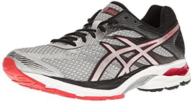 ASICS Men's Gel-Flux 4 Running Shoe, Glacier Grey/Silver/Vermilion,
