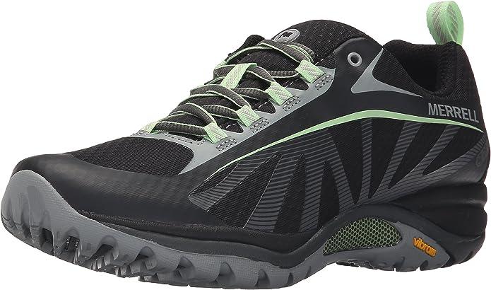 Merrell Siren Edge Waterproof, Zapatillas de Senderismo para Mujer, Negro (Black/Paradise), 36 EU: Amazon.es: Zapatos y complementos