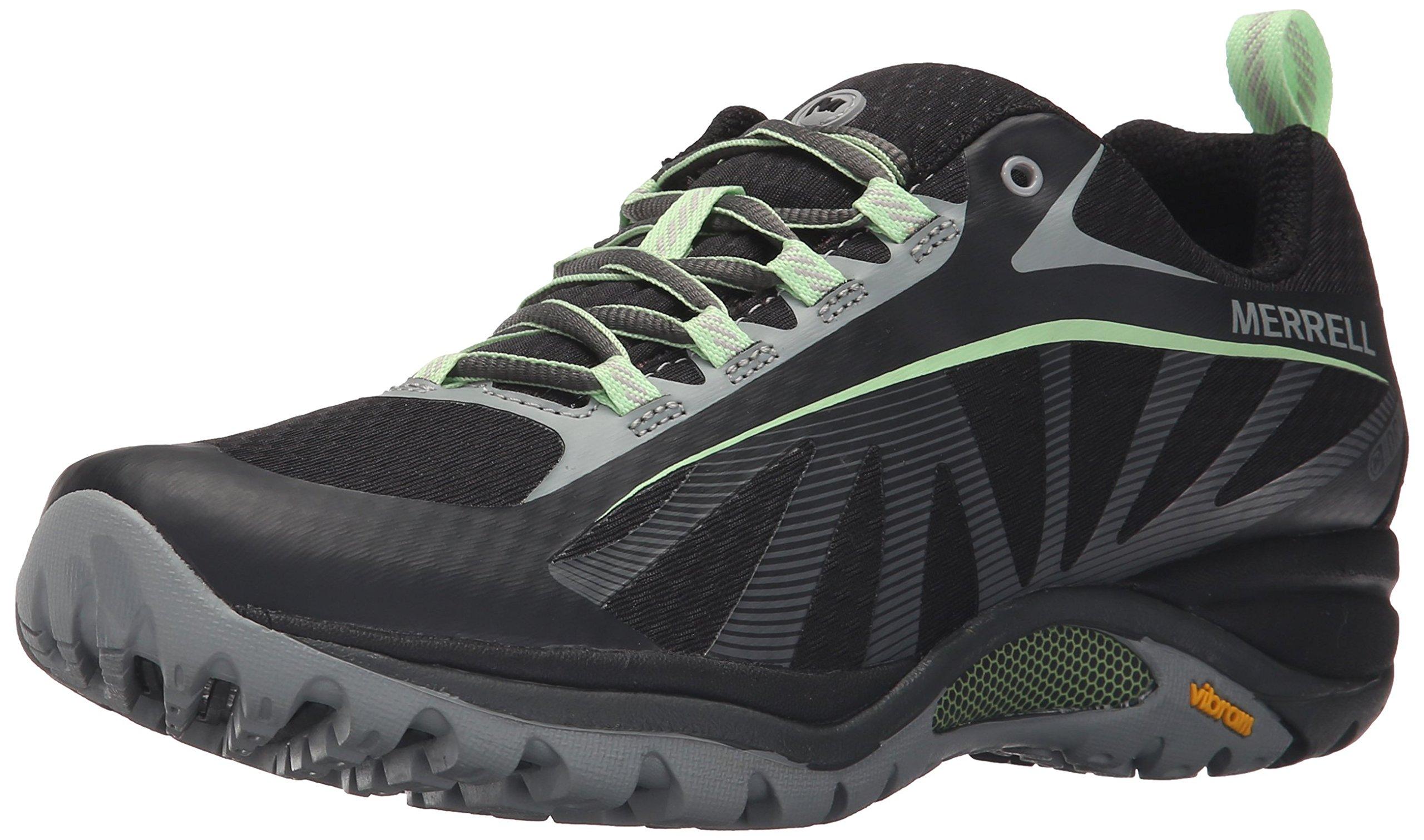 Merrell Women's Siren Edge Waterproof Hiking Shoe, Black/Paradise, 8 M US