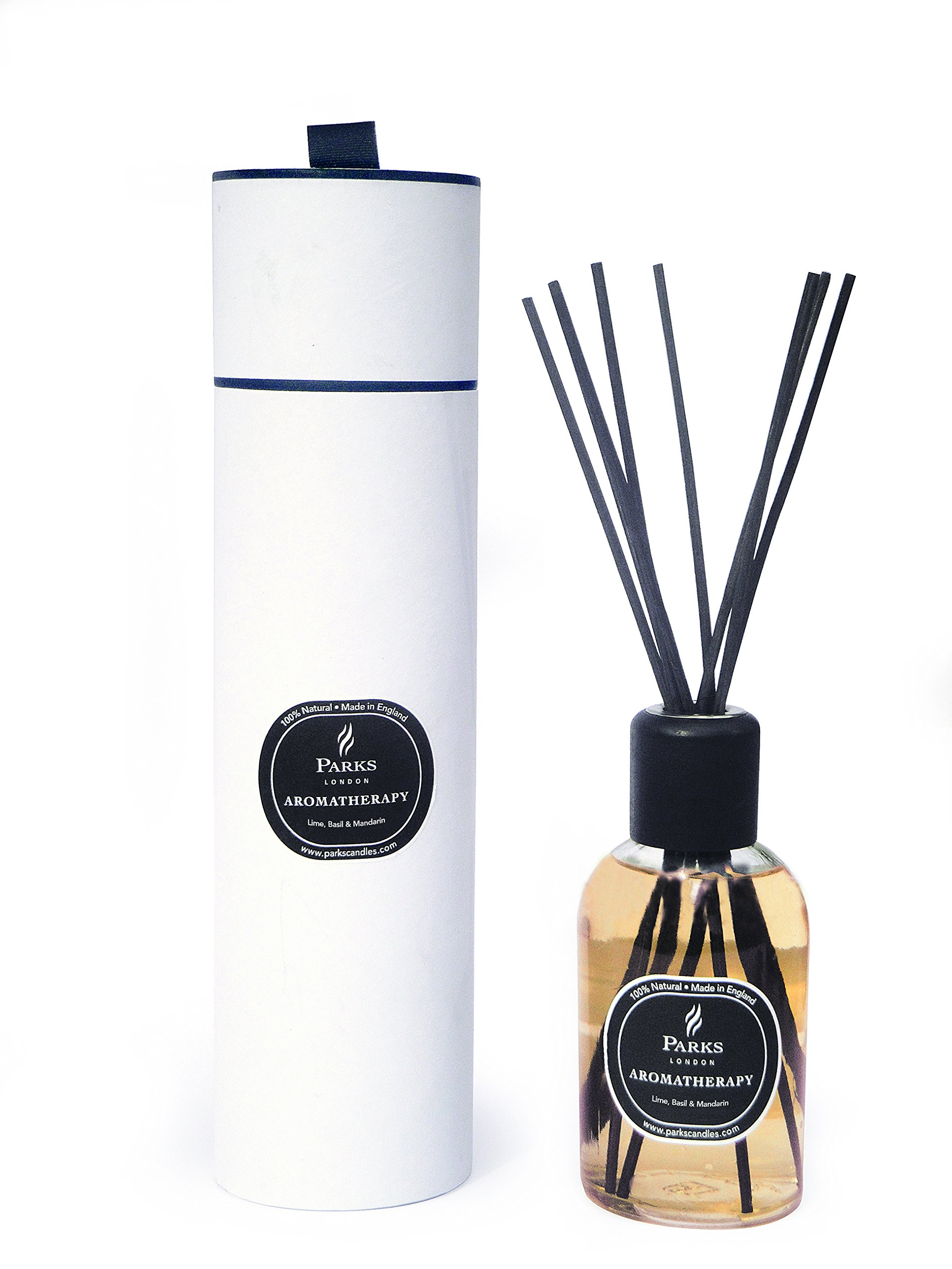 Lime Basil and Mandarin Aromatherapy Reed Room Diffuser by Diffuser - Parks London