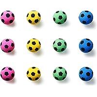 BCQLI Natural Latex Pet Toys Foam Soccer Balls Cat Toys,Pet Cat Fitness Equipment,12 Ball