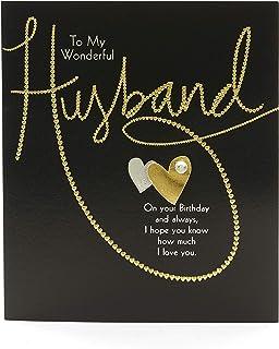Large Luxury Handmade Husband Birthday Card Amazoncouk Office