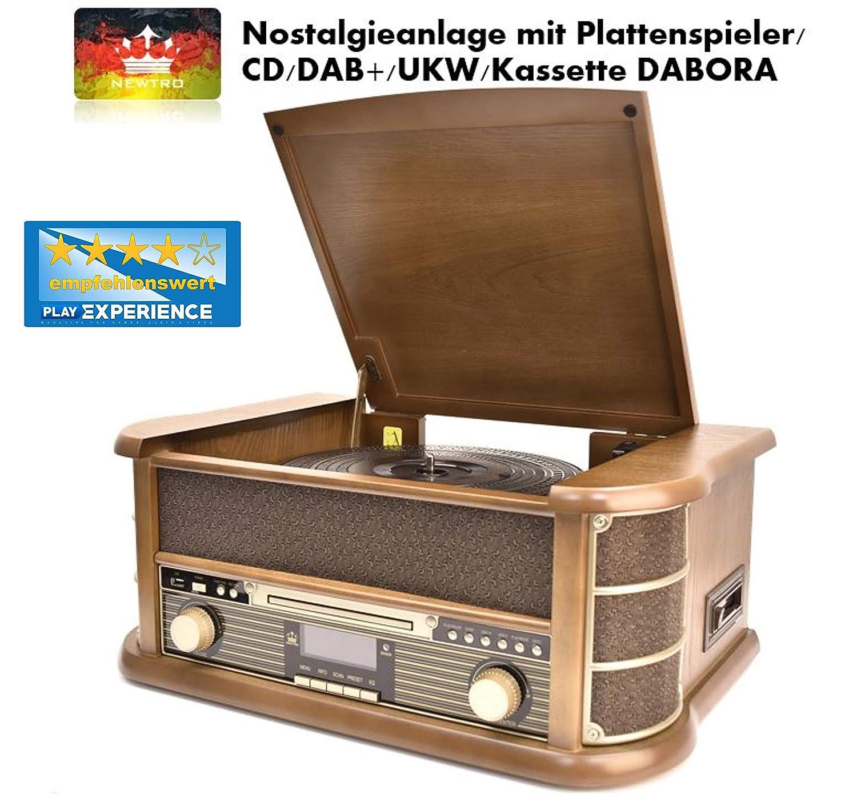 newtro Nostalgie Equipo con Tocadiscos/CD/Dab +/FM/láser ...