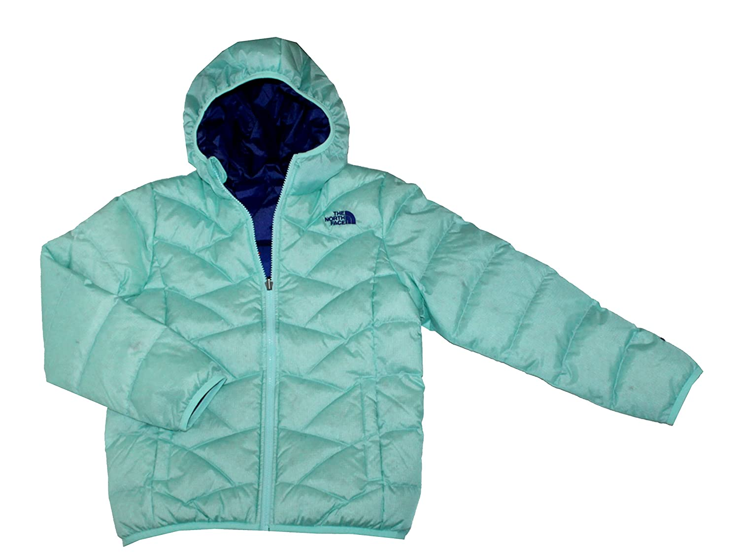 The North Face YOTH Girls Luna Reversible Down Jacket Breeze Blue