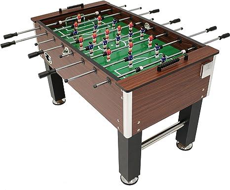 Sunnydaze - Mesa de futbolín de Madera sintética de 55 Pulgadas con Soportes Plegables para Bebidas, para Sala de Juegos: Sunnydaze Decor: Amazon.es: Deportes y aire libre