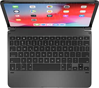 Brydge Pro 11.0 Keyboard for 11.0 inch iPad Pro 3rd Generation 2018 Model | Aluminum Wireless Bluetooth Keyboard with Backlit Keys | Long Battery Life | (Space Gray) (Renewed)