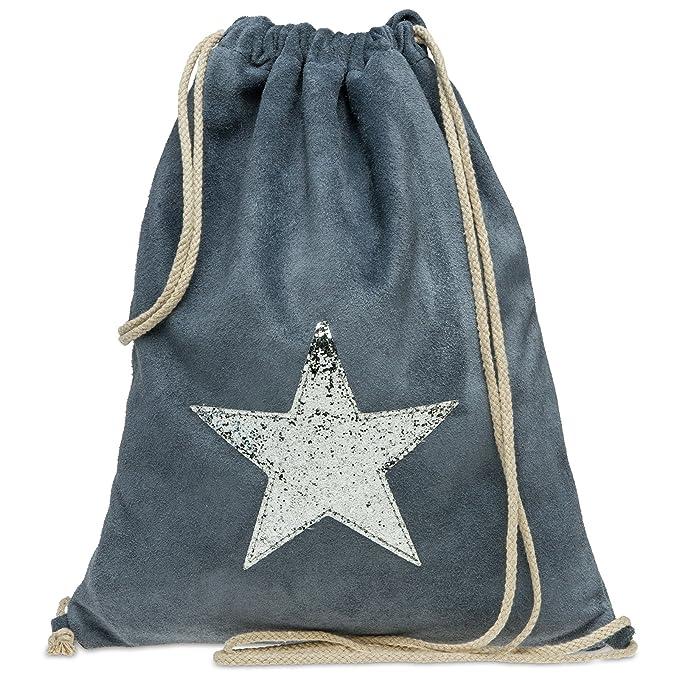 CASPAR TL712 Mochila de Cuerda de Ante/Bolsa de Deporte con Estrella Brillante, Color:azul vaquero;Tamaño:Talla Única: Amazon.es: Ropa y accesorios