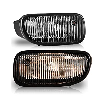 Fog Lights for 1999-2003 JEEP Grand Cherokee with Bulbs H12 12V53W AUTOFREE OEM Fog Lamps Replacement- 1 Pair(Clear Lens): Automotive