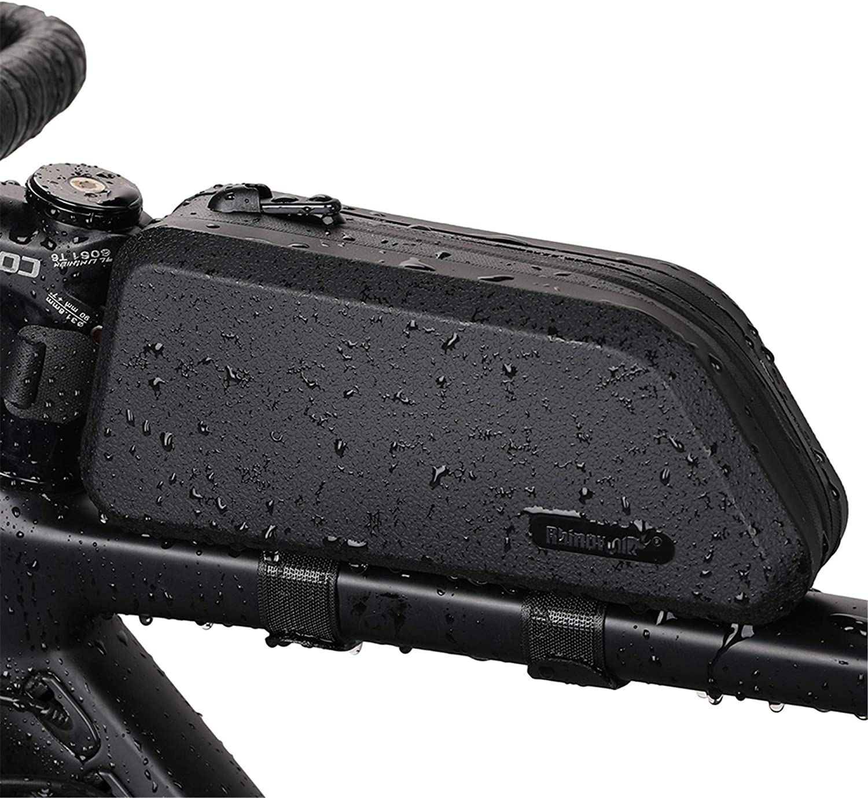Rhinowalk Bolsa Cuadro de Manillar Tubo Superior Impermeable Capacidad 1,5L, Bolsa Sillín para Bicicletas MTB Bici de Carretera Bici Plegable