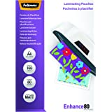 Fellowes 5452101 matte Laminierfolien Enhance 80 Mikron, DIN A4 (100er Pack)