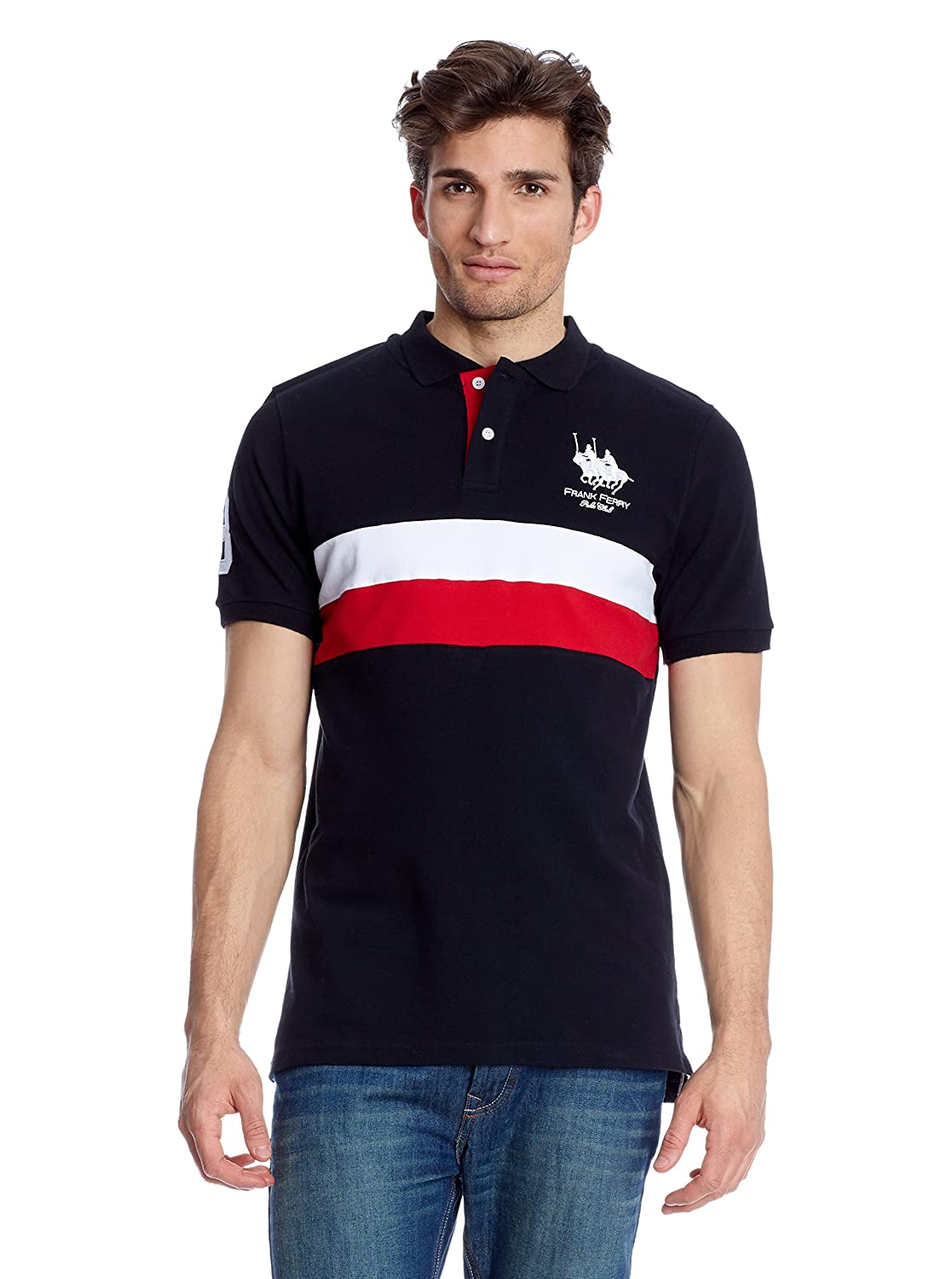 FRANK FERRY Polo Logo Negro 3XL: Amazon.es: Ropa y accesorios