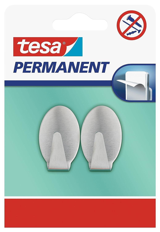 Tesa H6661100 Permanent Haken Oval Metall Grau Tesa Se 666110000000