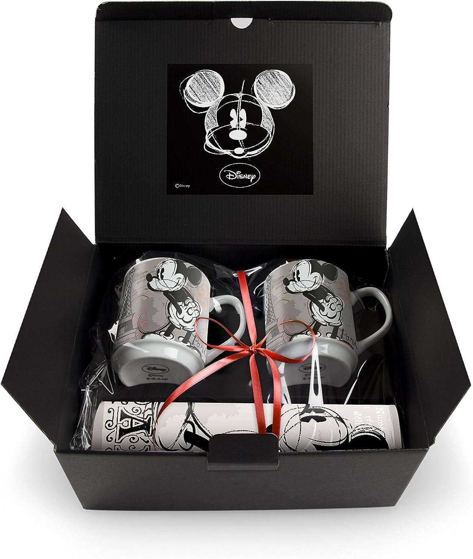 Egan WMSET/31 Juego de taza, modelo París y mantel, porcelana, multicolor, 4 unidades