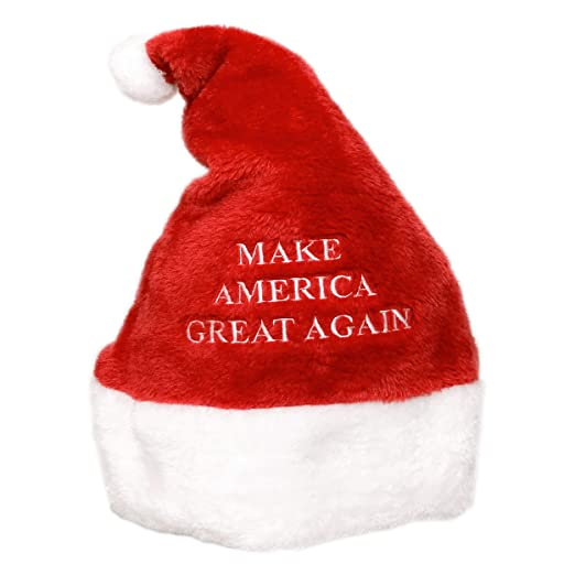 806324e34bdac Image Unavailable. Image not available for. Color  Super Plush  Make  America Great Again  MAGA Embroidered Christmas Santa Claus Hat