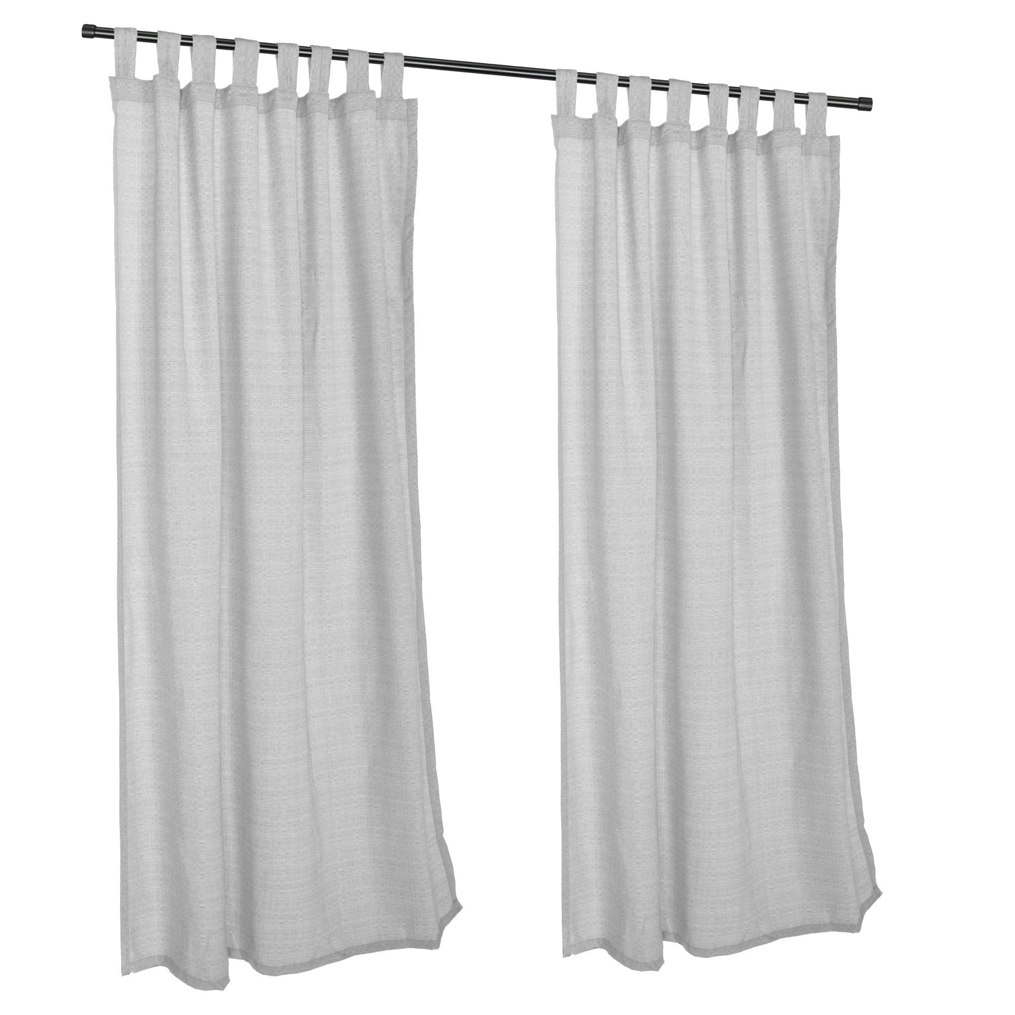Outdoor Curtains CUR108CLS 54 in. x 108 in. Sunbrella Outdoor Curtain with Tabs - Cilantro by Essentials by DFO