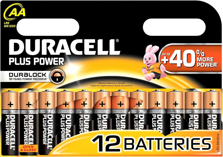 Duracell Duralock Plus Power Aa Lr6 Batterien 12 Stück Drogerie Körperpflege