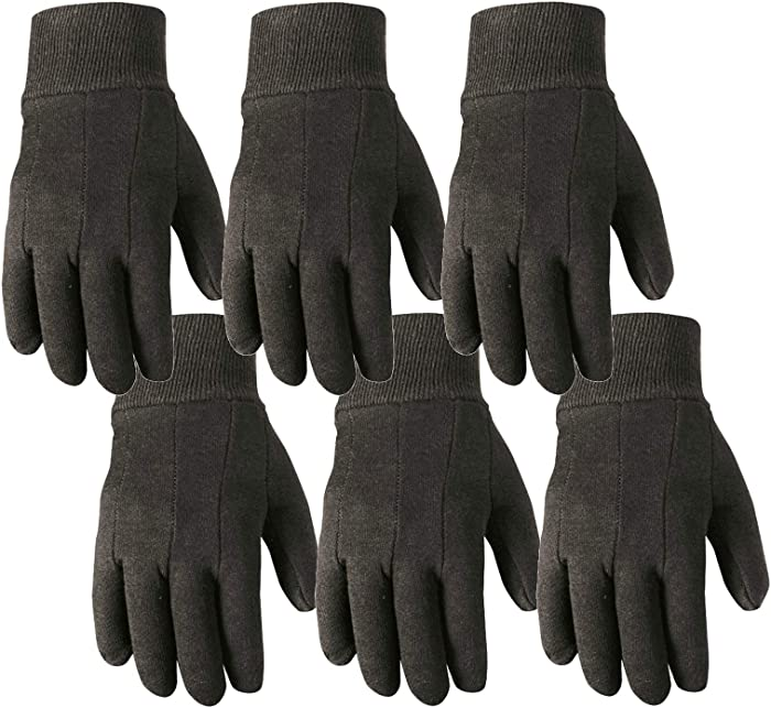 Wells Lamont Work Gloves, Wearpower, Basic Jersey, 6 Pair Pack (501LK-WNW)