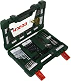 Bosch V-Line Titanium and Screwdriver Drill Bit with LED Torch (83-Piece Set)