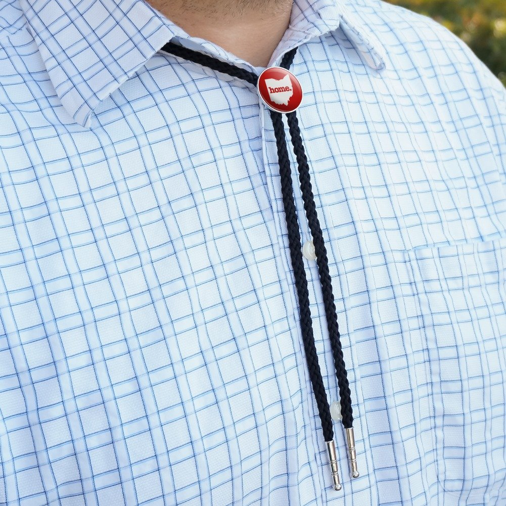 Ohio OH Home State Solid Red Officially Licensed Western Southwest Cowboy Necktie Bow Bolo Tie