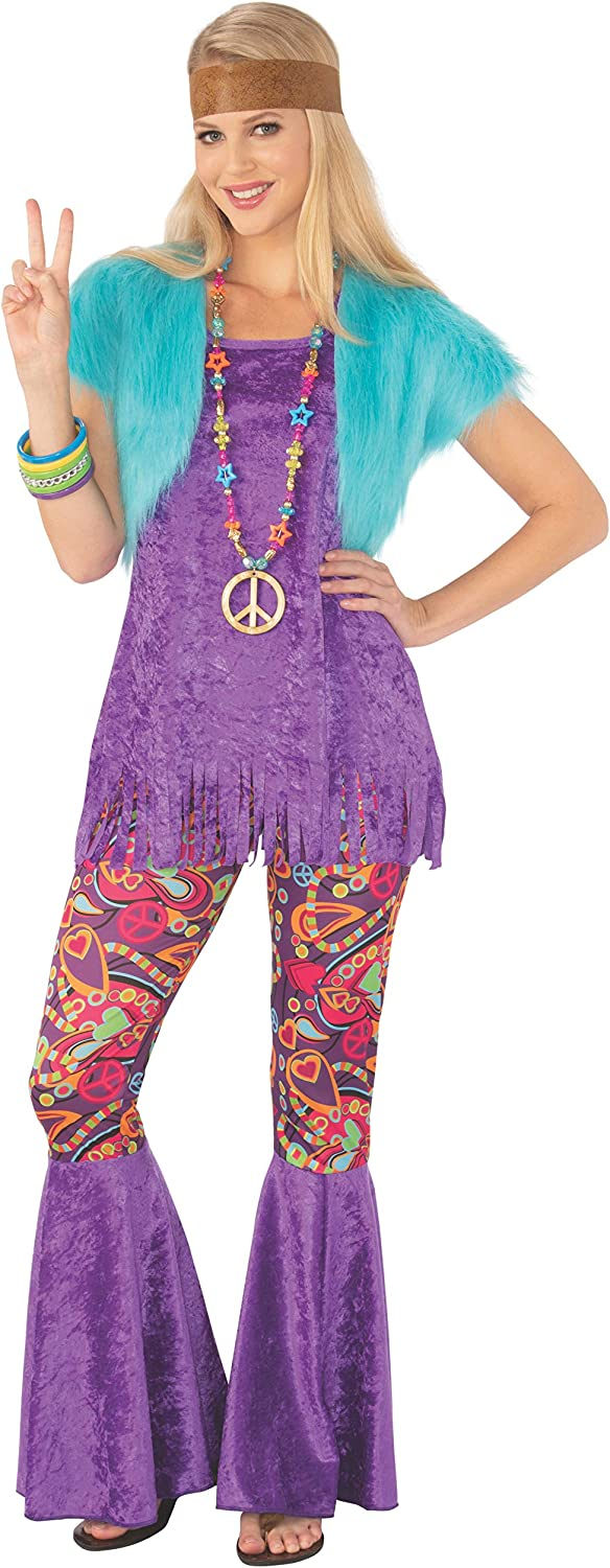 70s Costumes: Disco Costumes, Hippie Outfits Rubies Happy Hippie Ladies Costume $39.99 AT vintagedancer.com