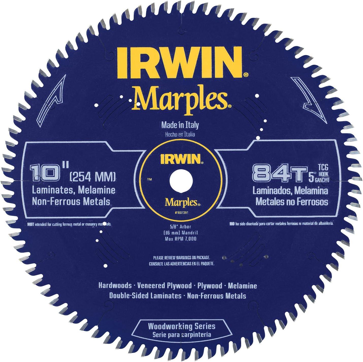 4. Irwin 10-Inch Circular Saw Blade