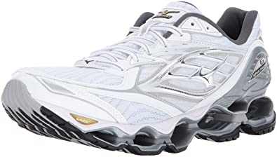 173e978fe60c Mizuno Mens Men's Wave Prophecy 6 Running Shoes White Size: 9 ...