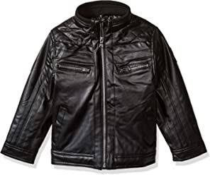 Buffalo David Bitton Boys Little Faux Leather Moto Jacket