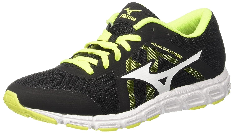 Mizuno Synchro SL - Zapatillas de Running Hombre 45 EU|Multicolor (Black/White/Safetyyellow 42)