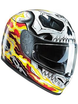 Casco Moto Hjc Marvel Fg-St Ghost Rider Rojo-Amarillo (Xs , Rojo