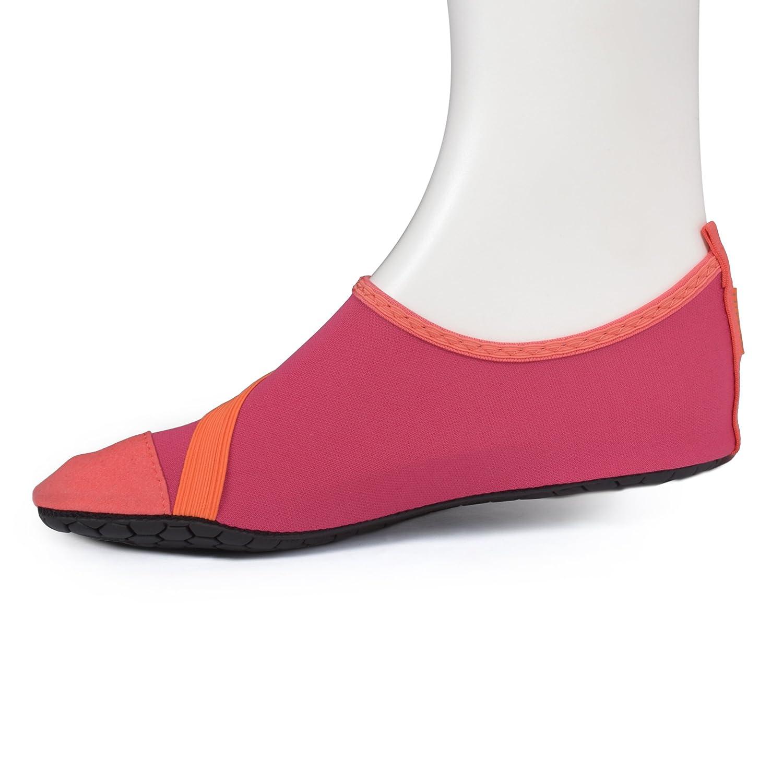 Fitkicks Zapatillas flexibles, ideales para yoga, ballet y deportes acuáticos, Negro, 37-38 EU / Medium
