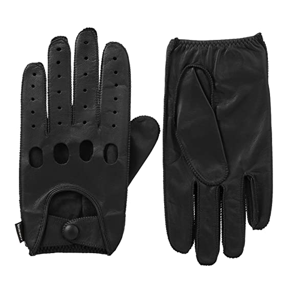 Isotoner Signature Men/'s Smooth Leather Driving Gloves A45011